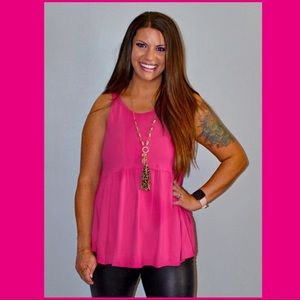 Pink Babydoll Top